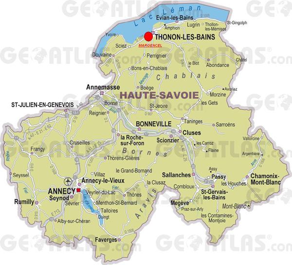 Thonon-Les-Bains France  city images : Thonon les Bains carte de france | Arts et Voyages